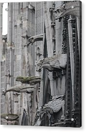 Acrylic Print featuring the photograph Gargoyles North Notre Dame by Christopher Kirby