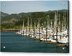 Garibaldi Oregon Marina Acrylic Print