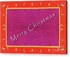 Garland Of Bells Christmas Frame Background In Flat Lay Acrylic Print