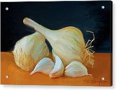 Garlic 01 Acrylic Print by Wally Hampton