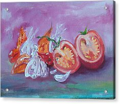 Garlic And Tomato  Acrylic Print