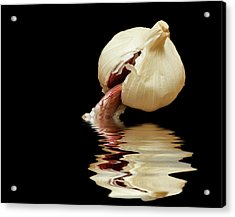 Acrylic Print featuring the photograph Garlic Cloves Of Garlic by David French