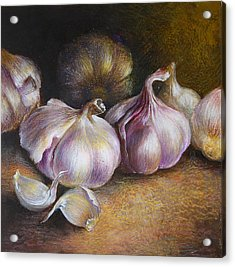 Garlic Painting Acrylic Print