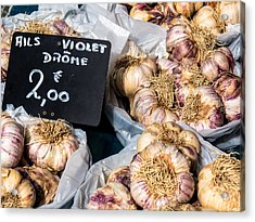 Garlic Two Euros Acrylic Print