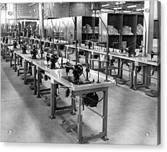 Garment Factory Interior Acrylic Print by Underwood Archives