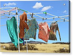 Acrylic Print featuring the photograph Garment Party by Jon Exley