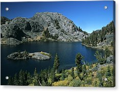 Garnet Lake Island Fall Color Acrylic Print