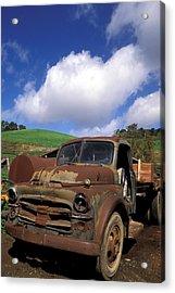 Garrod's Old Truck Acrylic Print by Kathy Yates