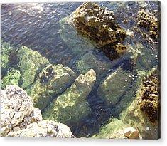 Garron Point Rock Pool Acrylic Print