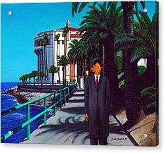 Gary Baldie Acrylic Print by Snake Jagger