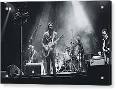 Gary Clark, Jr. Playing Live Acrylic Print by Marco Oliveira