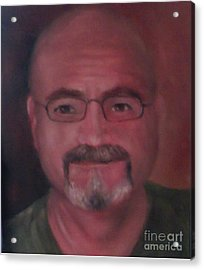 Acrylic Print featuring the painting Gary by Randol Burns