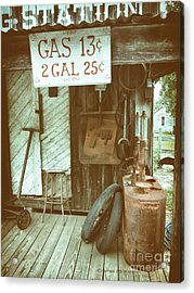 Acrylic Print featuring the photograph Gas 13 Cents by Charles McKelroy