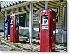 Gas And Mail 1 Acrylic Print by Paul Ward