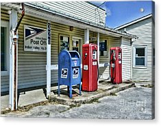 Gas And Mail Acrylic Print by Paul Ward