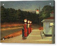 Gas  Acrylic Print by Edward Hopper