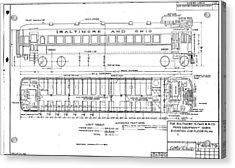 Gas Electric Car Diagram Acrylic Print