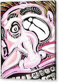 Gas Face Acrylic Print by Robert Wolverton Jr