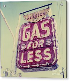 Gas For Less Acrylic Print by Steven  Godfrey