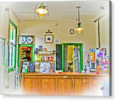 Gas Lamp Cafe Acrylic Print by Gerry Walden