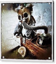 Gas Mask Koala Acrylic Print