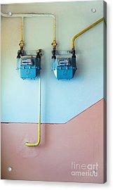 Gas Meters Acrylic Print by Gabriela Insuratelu