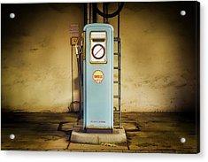 Gas Pum Acrylic Print by Michael Gaida