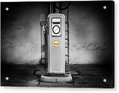 Gas Pump Acrylic Print by Michael Gaida