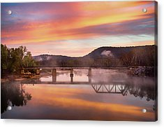 Gasconade River Sunrise Acrylic Print by Jae Mishra