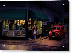 Gasolinera Linea Y Calle E Havana Cuba Acrylic Print by Charles Harden