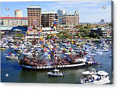 Gasparilla And Harbor Island Florida Acrylic Print by David Lee Thompson