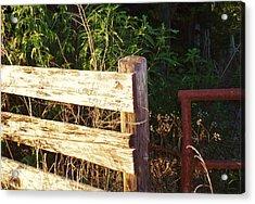 Gate Post Acrylic Print