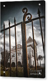 Gate To Haunted House Acrylic Print by Carlos Caetano