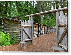 Gate To Log Camp At Fort Clatsop Acrylic Print