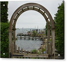 Gate To Noank Harbor Acrylic Print