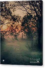 Acrylic Print featuring the photograph Gated Sunset by Charles McKelroy