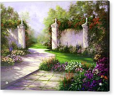 Gates In Menlo Park Acrylic Print by Gail Salitui