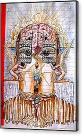 Gates Of Self-knowledge Acrylic Print by Paulo Zerbato