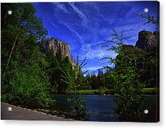 Gates Of The Valley Night's Sky Acrylic Print