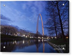 Gateway Arch At Dawn Acrylic Print
