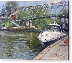 Gateway Harbor Park Acrylic Print by Ylli Haruni