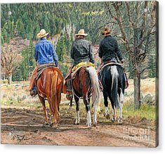 Gathering Pine Ridge Acrylic Print