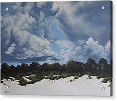Gathering Storm Acrylic Print by Mary Taglieri