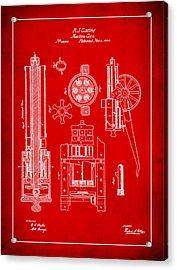 Gatlin Machine Gun Drawing 1f Acrylic Print
