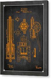 Gatlin Machine Gun Drawing  Acrylic Print