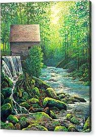 Gatlinburg  Tenessee Mill Acrylic Print
