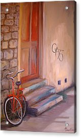 Acrylic Print featuring the painting Gato by Anne Dentler