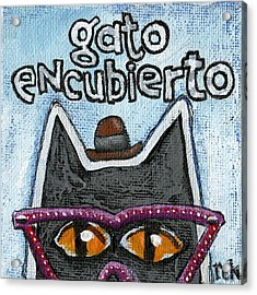 Gato Encubierto Acrylic Print
