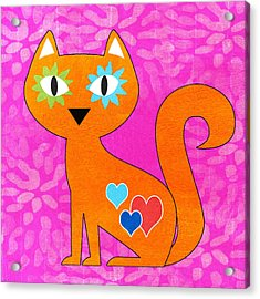 Gato Acrylic Print by Linda Woods