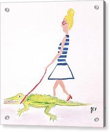 Gator Walk Acrylic Print by J Cv